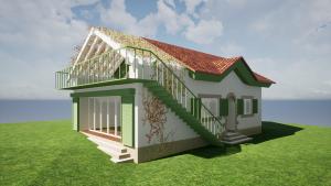 silencioarquitectos_Modelado BIM e infografías 3D_Reforma_bioconstrucción_vivienda_unifamiliar_RS